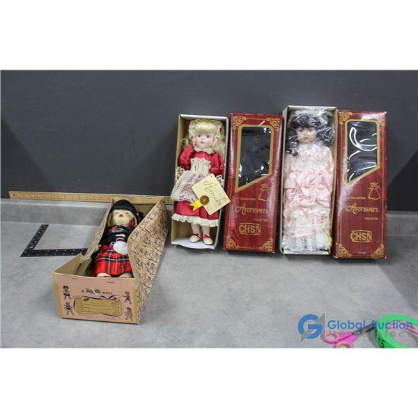(3) Collectors Dolls