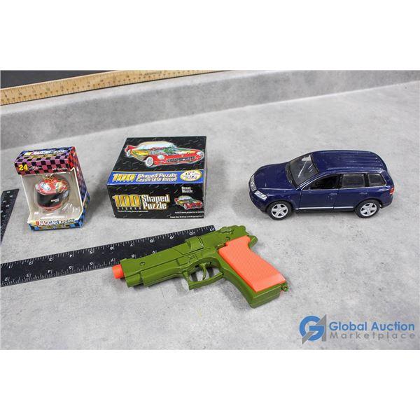 Cap Toy, Puzzle, VW Car, & Nascar Ornament