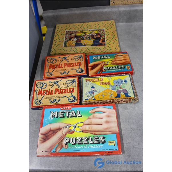 Metal Puzzles w/Original Boxes
