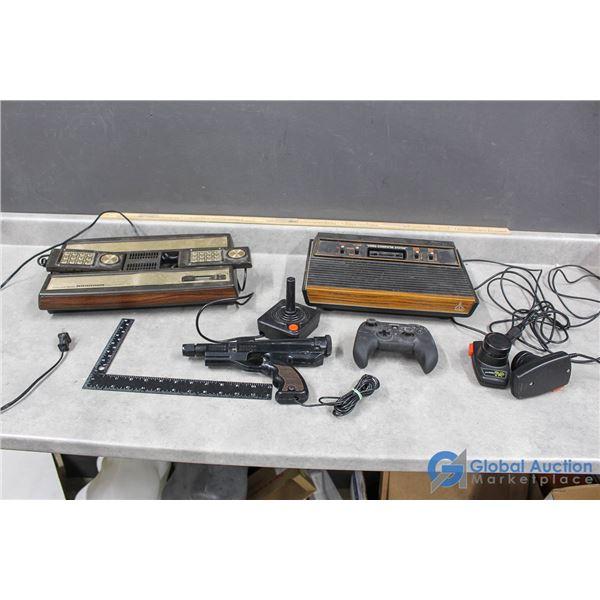Vintage Atari & Intellivison Game Console