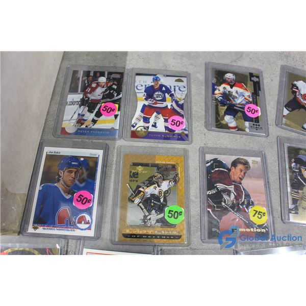 Assorted Hockey Cards & Empty Sleeves
