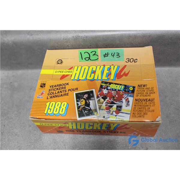 Sealed 1988 O-Pee-Chee Hockey Yearbook Stickers, Cards & Bubble Gum