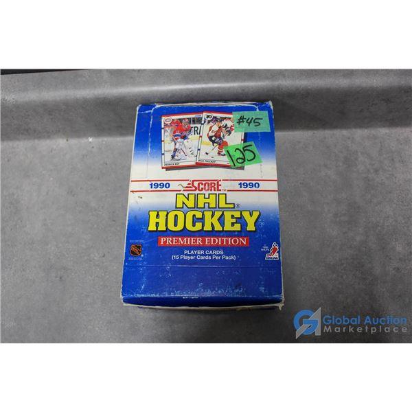 1990 Score NHL Full Box of 36 Sealed Packs of Hockey Cards