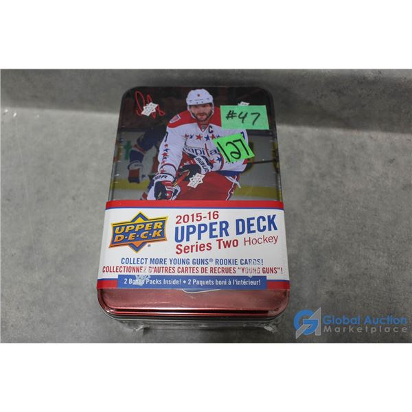 2015-16 Upper Deck Series2 Hockey - Sealed Collectors Tin - 12 Packs - Young Guns Rookie Cards