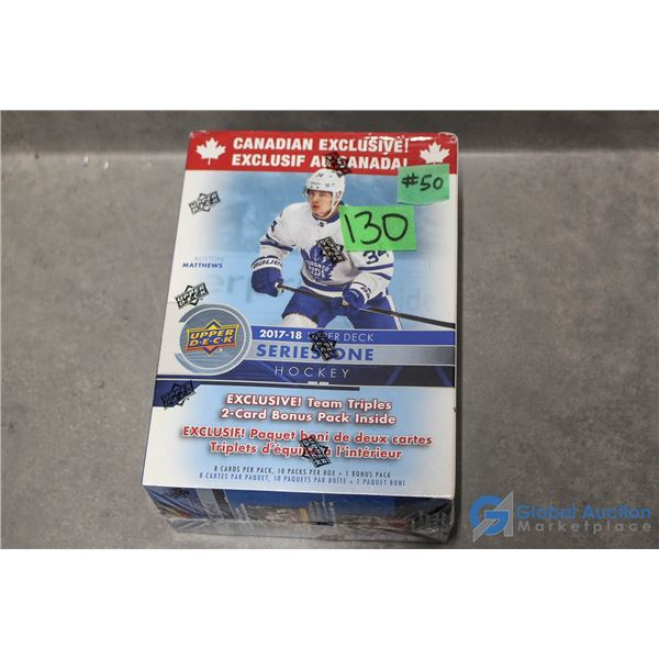 Sealed 2017-18 Upper Deck Series 1 Hockey Cards - 11 Packs - Young Guns Rookie Cards