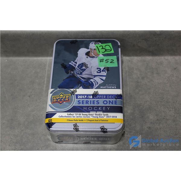 Sealed 2017-18 Upper Deck Series 1 Hockey Cards - Collectors Tin - 12 Packs - Young Guns Rookie Card