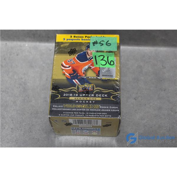 Sealed 2018-19 Upper Deck Series 1 Hockey Cards - 12 Packs - Young Guns Rookie Cards