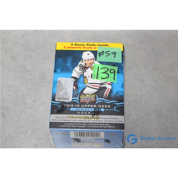 Sealed 2018-19 Upper Deck Series 2 Hockey Cards - 12 Packs - Young Guns Rookie Cards