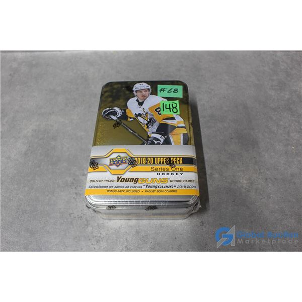 Sealed 2019-20 Upper Deck Series 1 Hockey Cards - Collectors Tin - 10 Packs - Young Guns Rookie Card