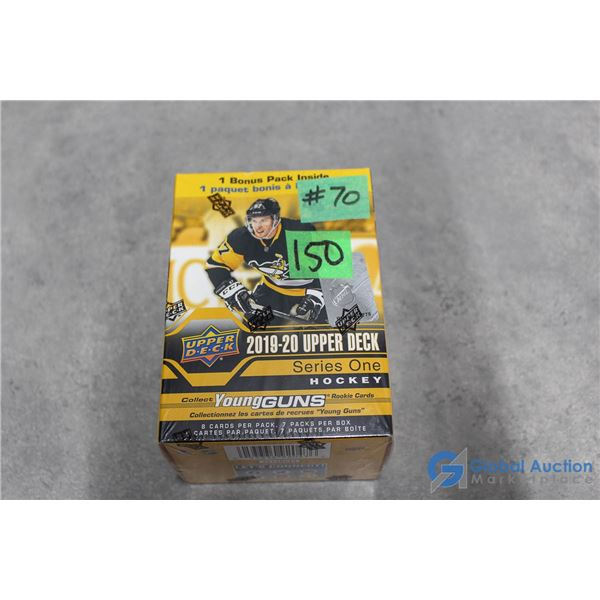 Sealed 2019-20 Upper Deck Series 1 Hockey Cards - 7 Packs - Young Guns Rookie Cards