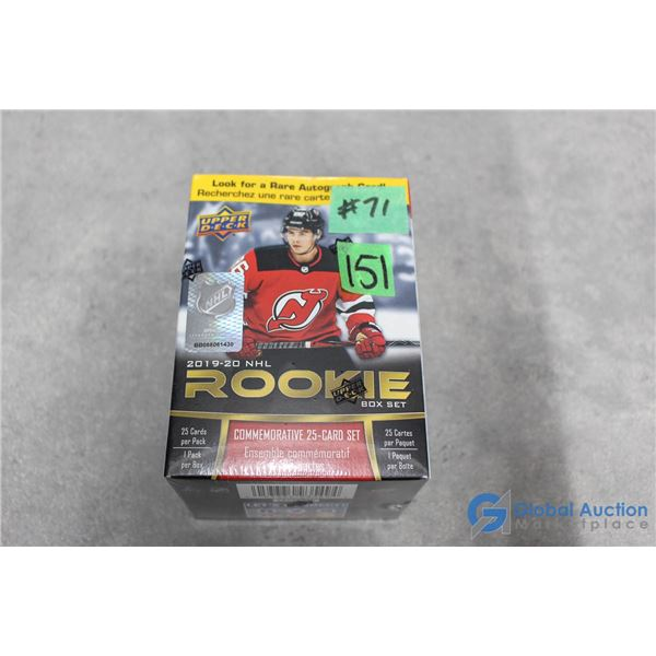 Sealed 2019-20 Upper Deck NHL Hockey Rookie Box Set - Pack of 25 Star Rookie Cards