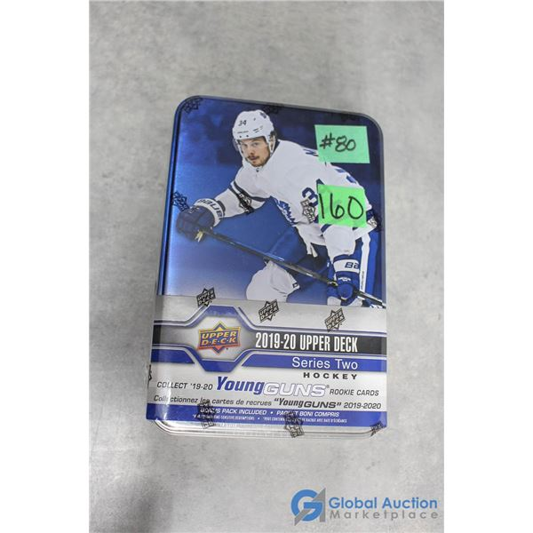 Sealed 2019-20 Upper Deck Series 2 Hockey Cards - Collectors Tin - 10 Packs - Young Guns Rookie Card