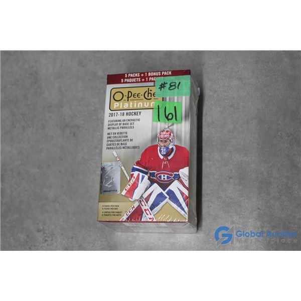 Sealed 2017-18 O-Pee-Chee Platinum Hockey - 6 Packs
