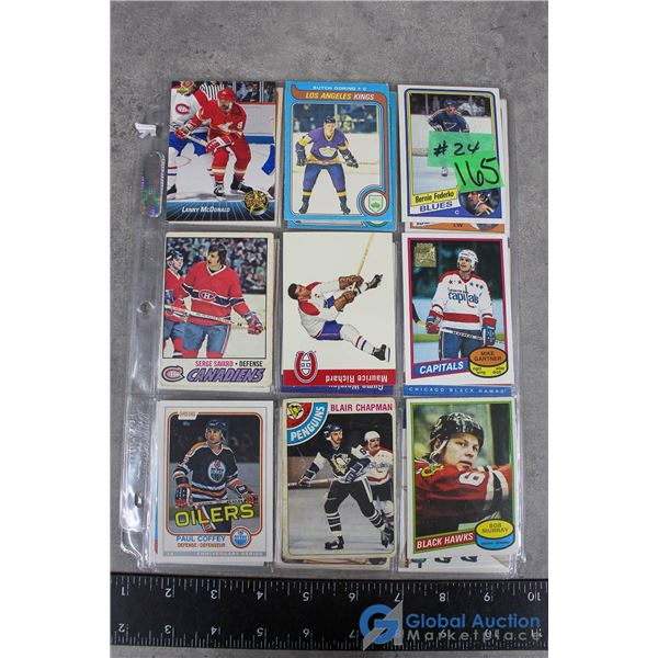 Vintage Hockey Cards - 27 Cards - Mostly 1970's & 1980's