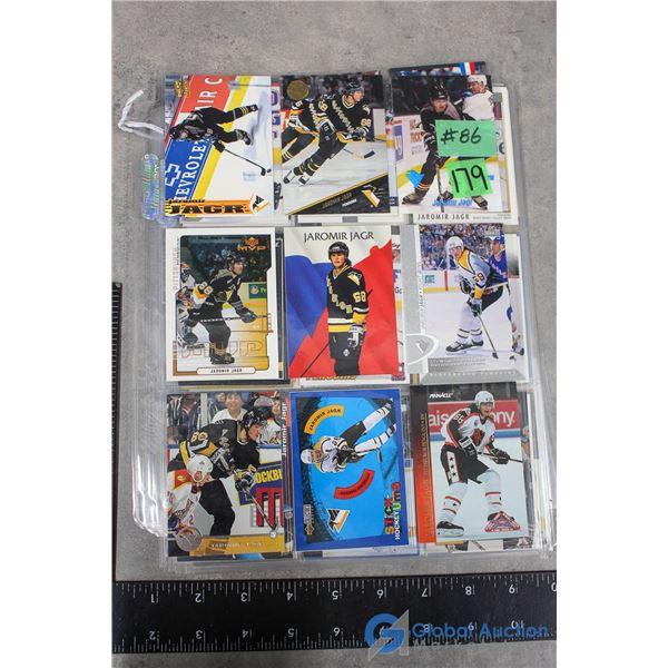Jaromir Jagr - 54 Different Hockey Cards