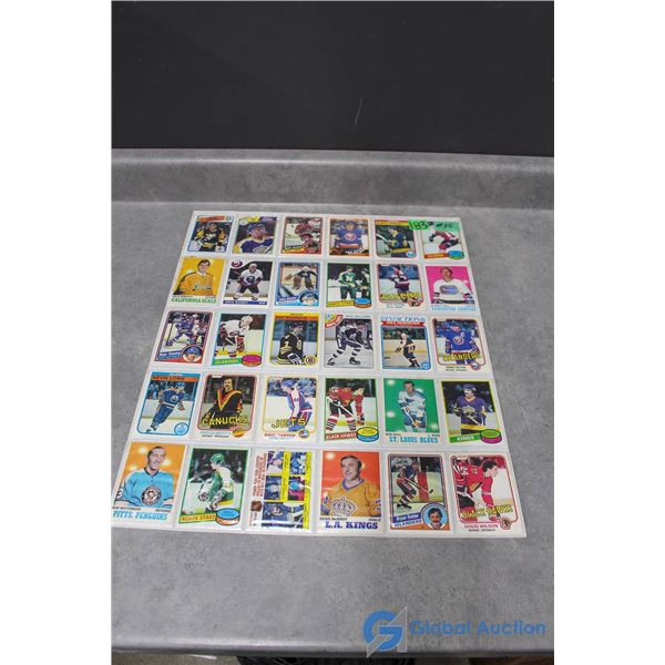 Vintage Hockey Cards - 30 Cards - Mostly 1970's & 1980's
