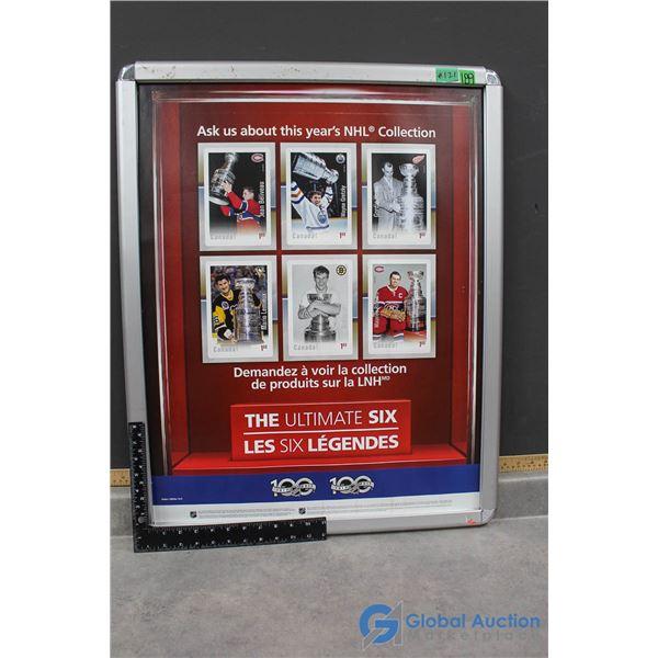 Display Framed Ultimate 6 Legends Canada Post NHL Stamp Collection Poster