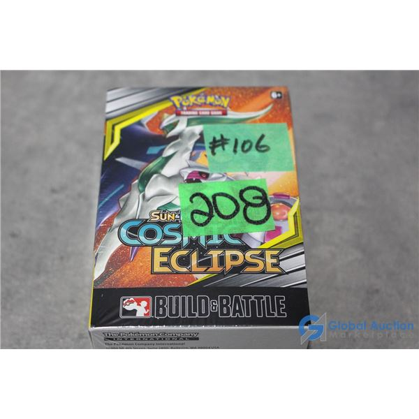 Sealed Build & Battle Sun & Moon Cosmic Eclipse Pokemon Card Box