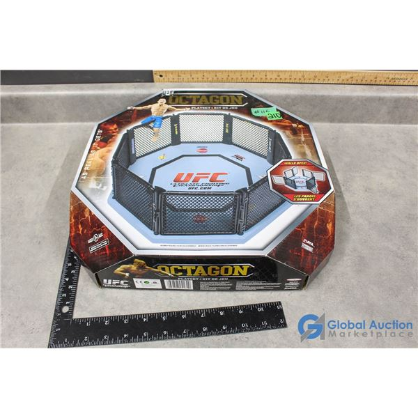 """NIB Ultimate Fighting Champion (UFC) Octagon Playset Cage/Ring - Official Scale 30"""" Wide"""