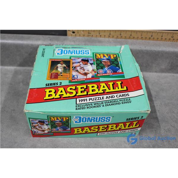 Jumbo Wax Packs in Box Don Russ B.B 1991 Series 2
