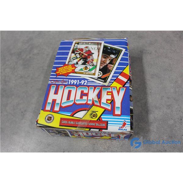 Sealed 1991-92 Box of Hockey Wax Packs