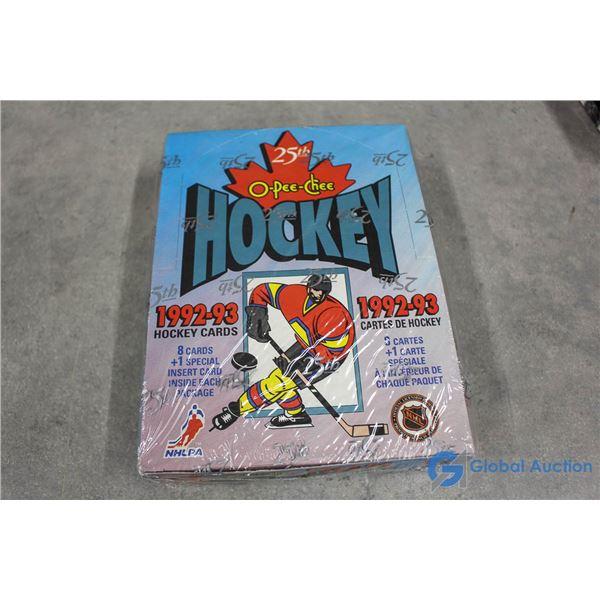 Sealed 1992-93 Box of O-Pee-Chee Hockey Wax Packs