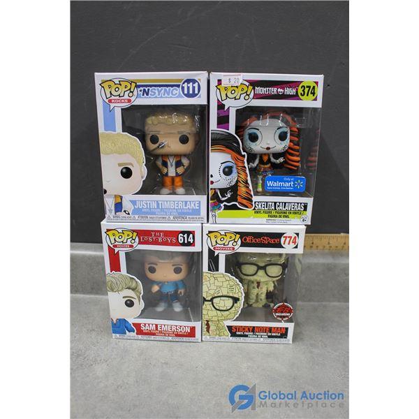 (4) POP! Funko Vinyl Figurines in Box