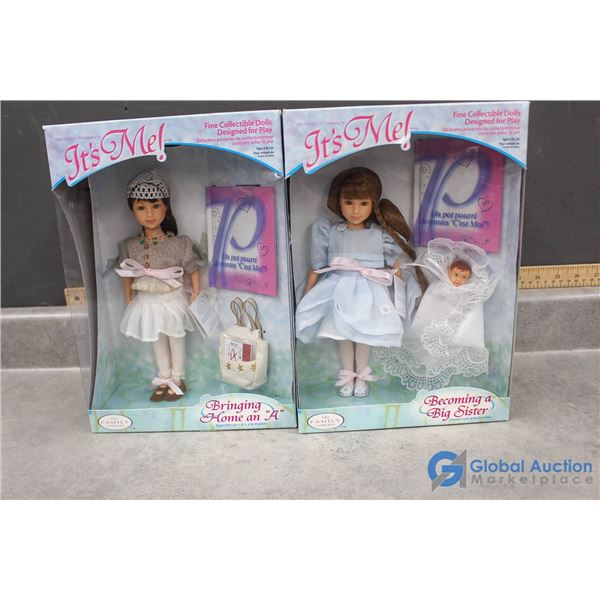 """(2) 1999 """"The Family Collection"""" Dolls in Box"""