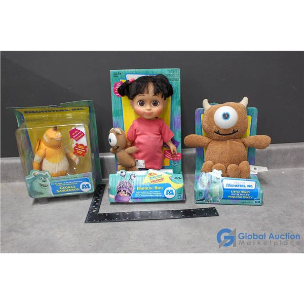 (3) Monsters Inc Toys