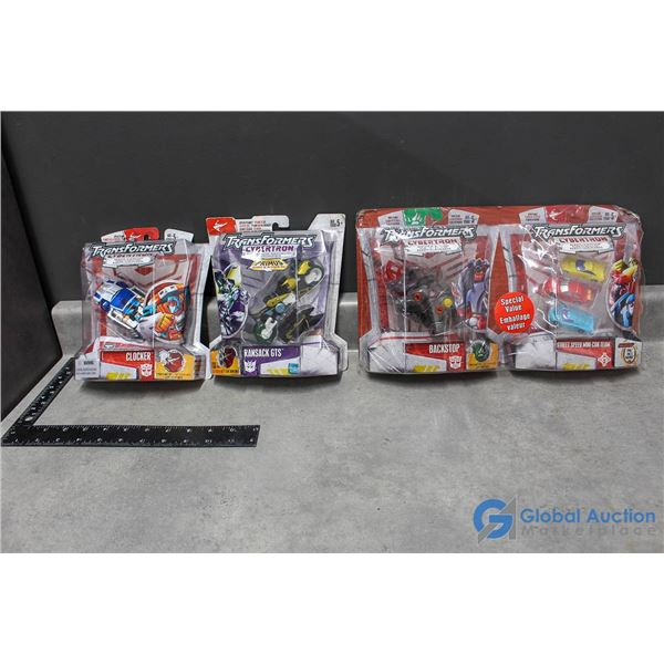 (4) In Package Transformers Cybertron Toys