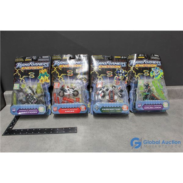 (4) Transformer Energon Toys In Packages