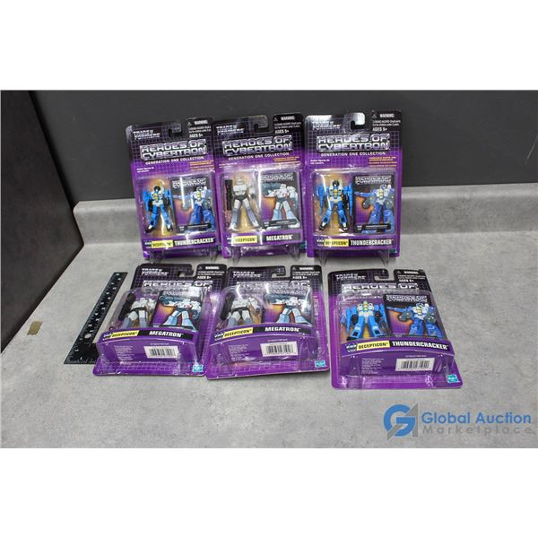 (6) Transformer Heroes Of Cybertron Decepticons Toys In Package