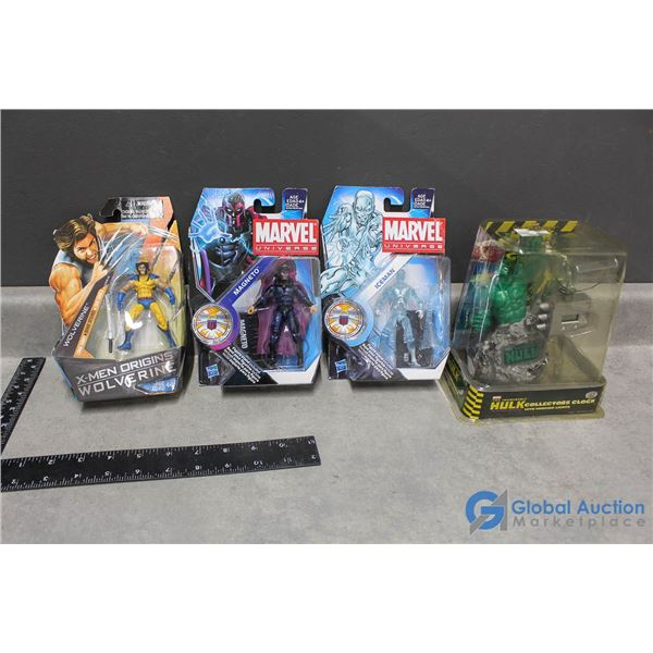 (4) Marvel Toys In Package