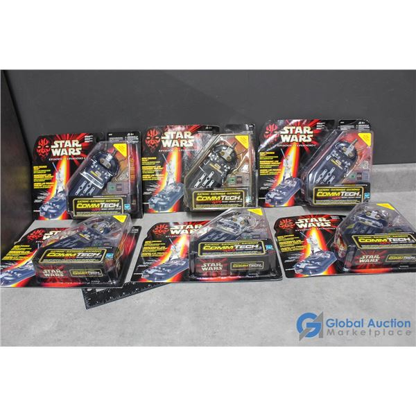 (6) Star Wars Ep. 1 Commtech Toys In Package