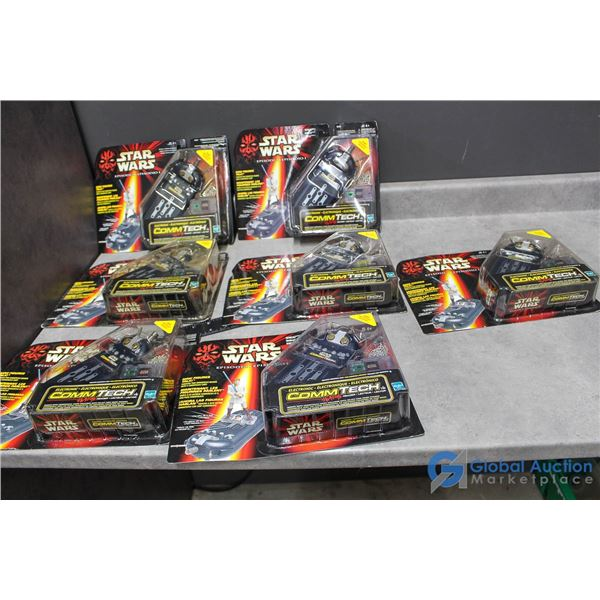 (7) Star Wars Ep. 1 Commtech Toys In Package