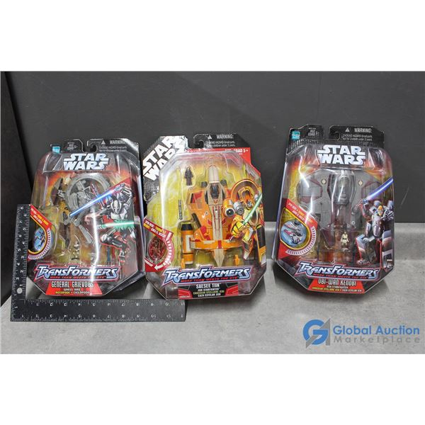 (3) Star Wars Transformers Toys In Package