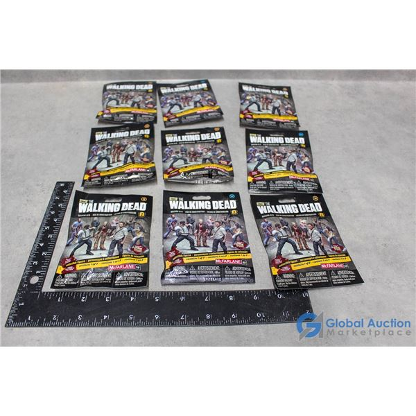 (9) The Walking Dead Collectible Figurines in Package