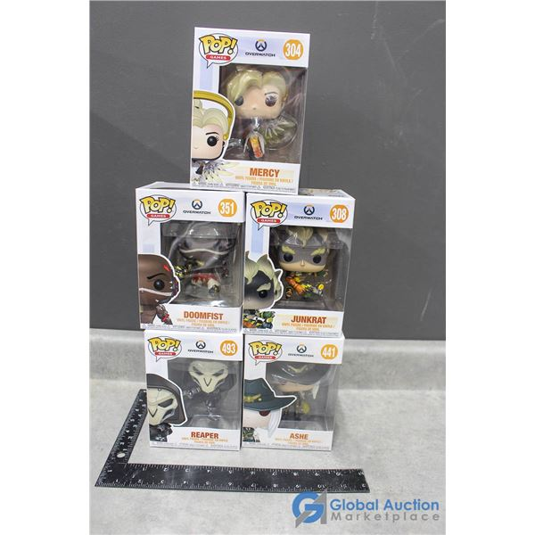(5) Pop! Funko Vinyl Figurines in Box