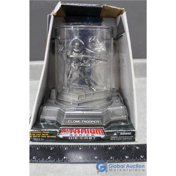 Titanium Die Cast Star Wars Clone Trooper in Box