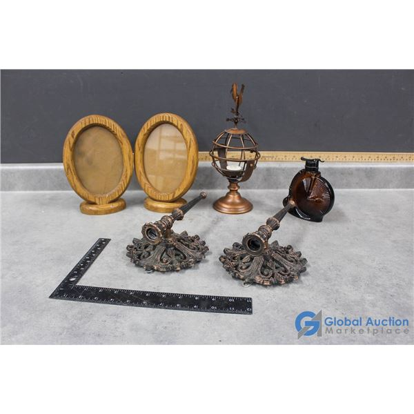Wooden Picture Frames & Candle Holders