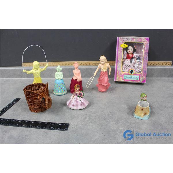 Avon Collectibles, Doll Figurine & Bright Doll in Box