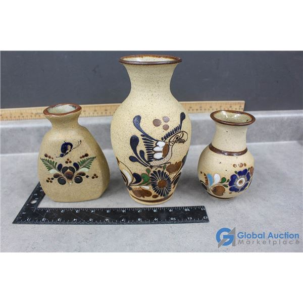 (3) Mexican Pottery Vases