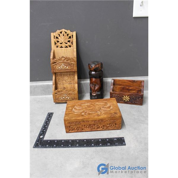 Wooden Letter/Holders, Wooden Carving & Decorative Box