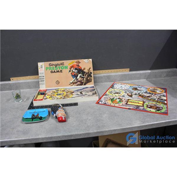 RCMP Related Dishware & Sergeant Preston Board Game
