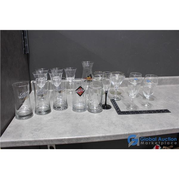 (19) Assorted Glasses