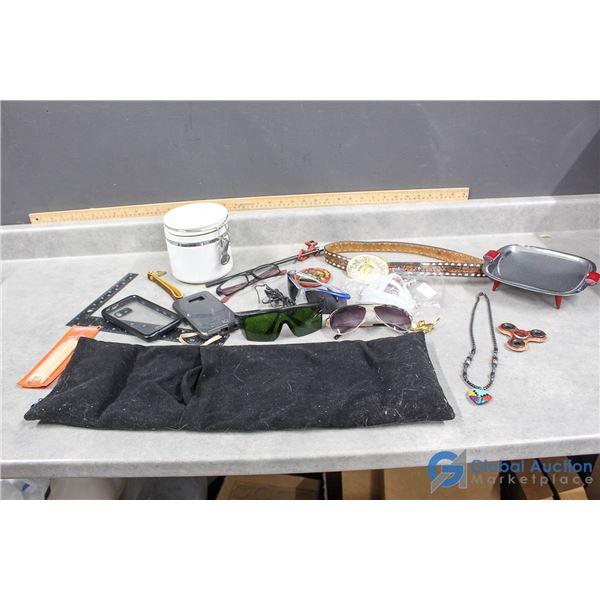 Sunglasses, Phone Cases, Fidget Spinner, Leather Belt & Assorted Items