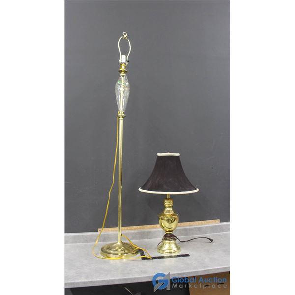 (1) Floor Lamp & (1) Table Lamp