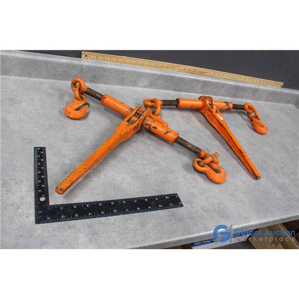 (2) Ratcheting Load Binders