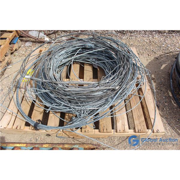 **Rolls Of Heavy Power Line Support Wire