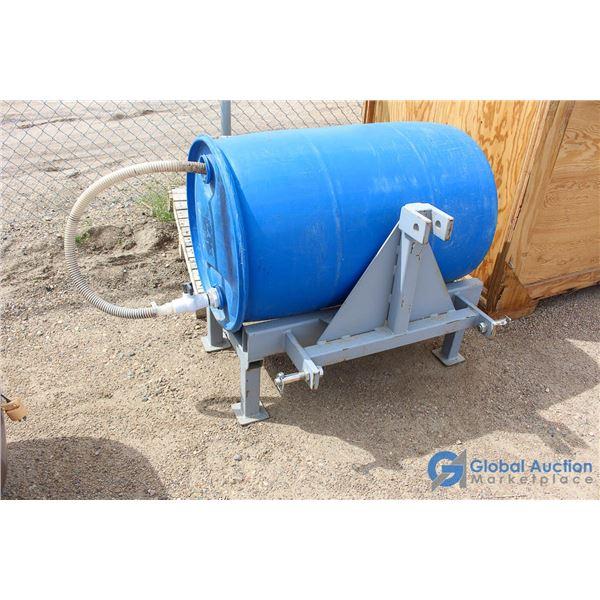 **Three Point Hitch w/Watering Barrel